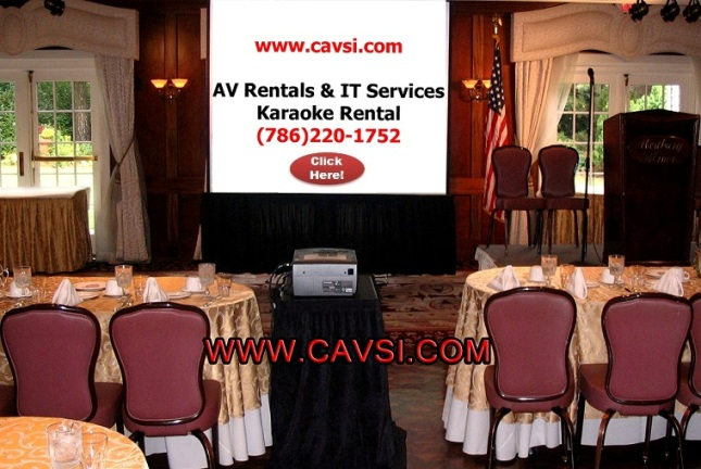 Projector and screen rental Miami